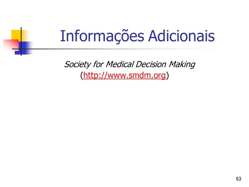 63 Informações Adicionais Society for Medical Decision Making (http://www.smdm.org)http://www.smdm.org