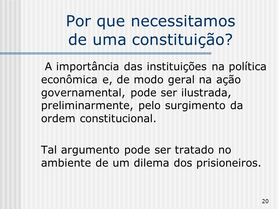 20 Por que necessitamos de uma constituição.