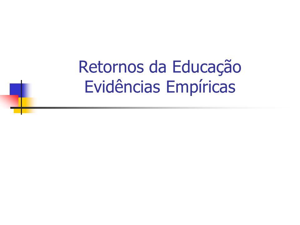 Retornos da Educação Evidências Empíricas