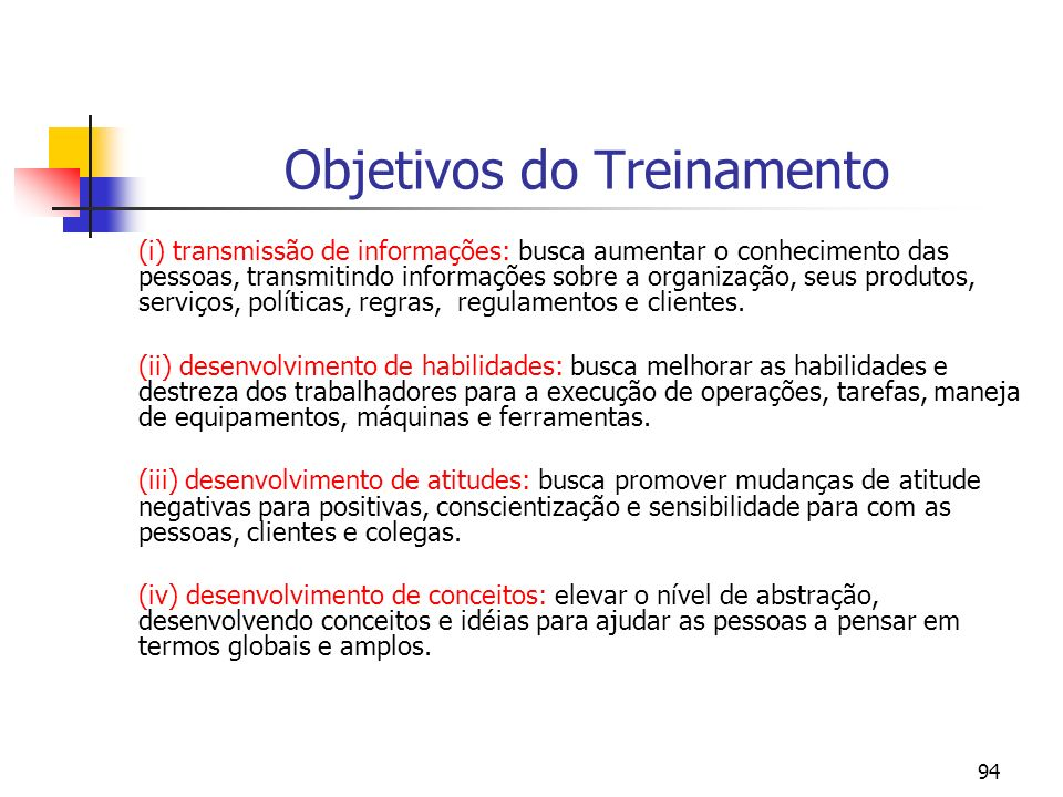 95 Os Custos do Treinamento [cf.