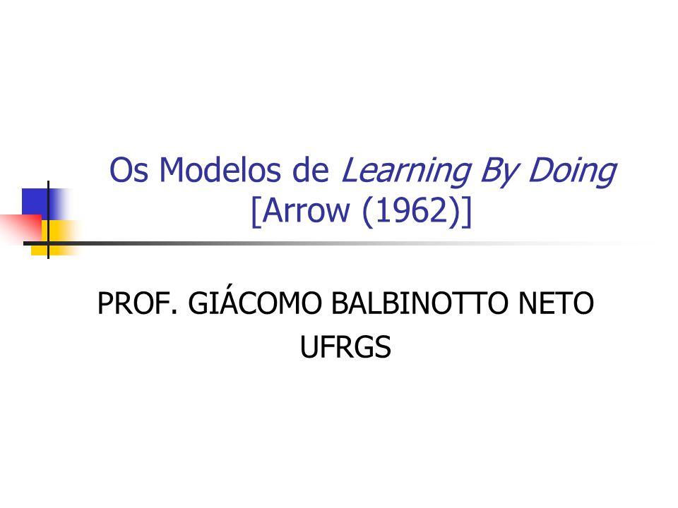 Os Modelos de Learning By Doing [Arrow (1962)] PROF. GIÁCOMO BALBINOTTO NETO UFRGS
