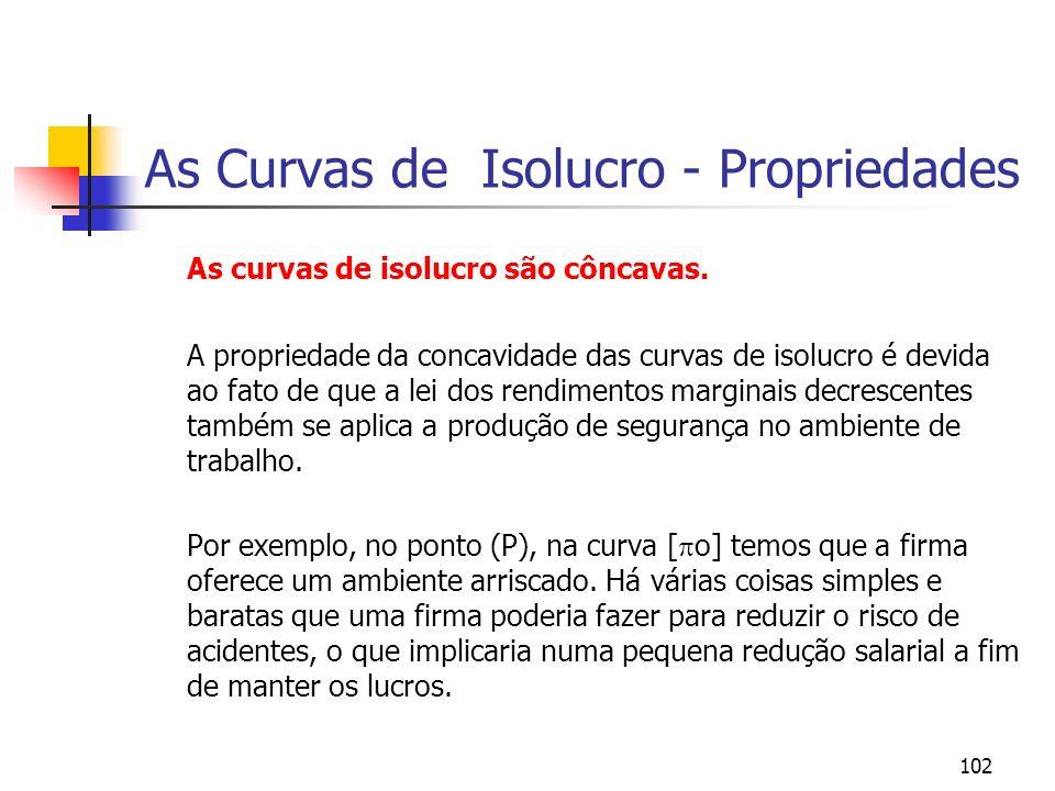 102 As Curvas de Isolucro - Propriedades As curvas de isolucro são côncavas.