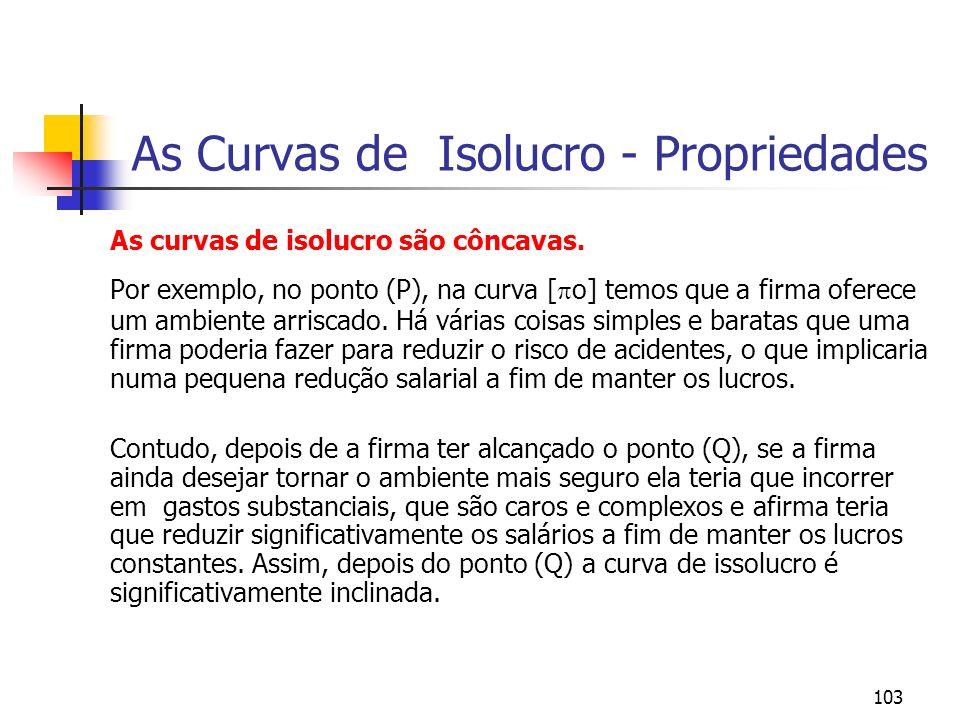 103 As Curvas de Isolucro - Propriedades As curvas de isolucro são côncavas.