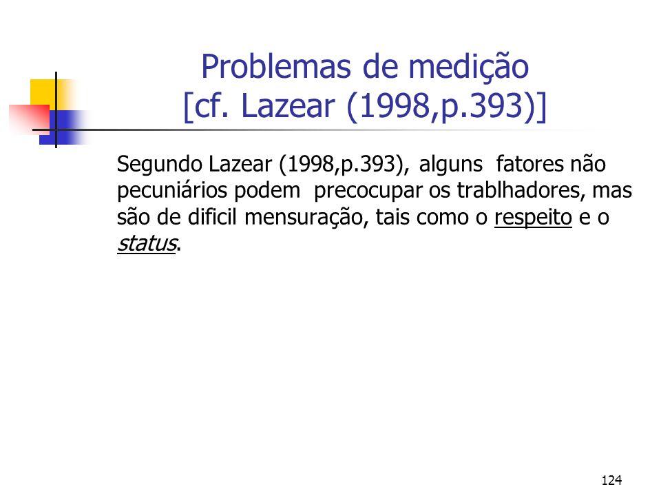 124 Problemas de medição [cf.