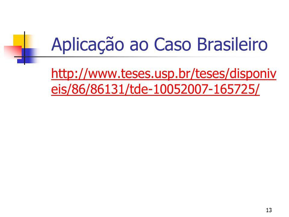 13 Aplicação ao Caso Brasileiro http://www.teses.usp.br/teses/disponiv eis/86/86131/tde-10052007-165725/