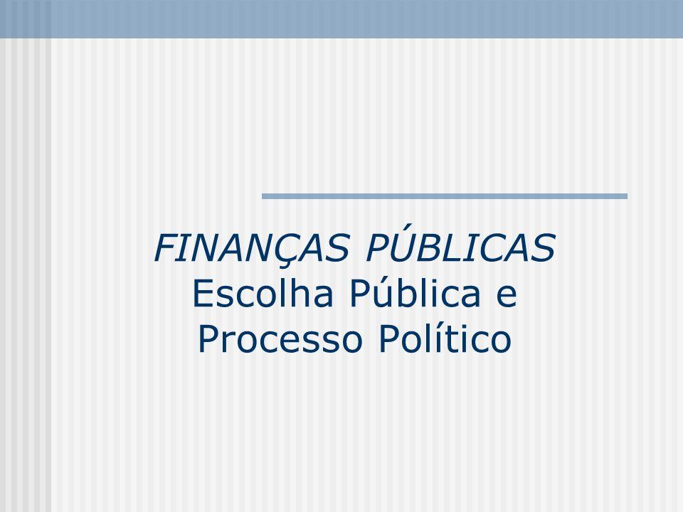 FINANÇAS PÚBLICAS Escolha Pública e Processo Político