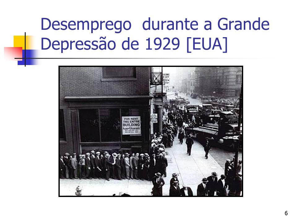 6 Desemprego durante a Grande Depressão de 1929 [EUA]