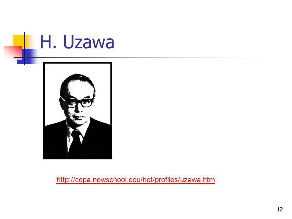 12 H. Uzawa http://cepa.newschool.edu/het/profiles/uzawa.htm