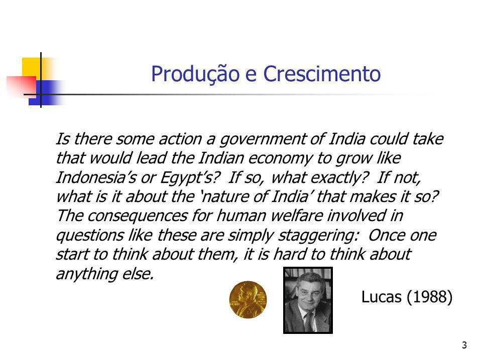 3 Produção e Crescimento Is there some action a government of India could take that would lead the Indian economy to grow like Indonesias or Egypts.