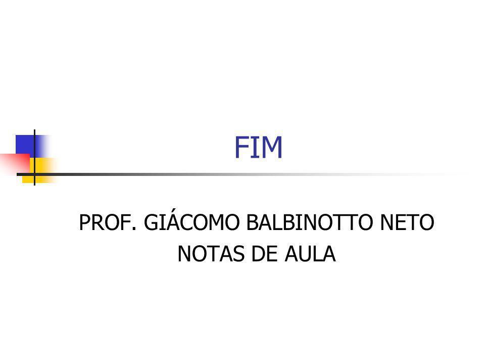 FIM PROF. GIÁCOMO BALBINOTTO NETO NOTAS DE AULA