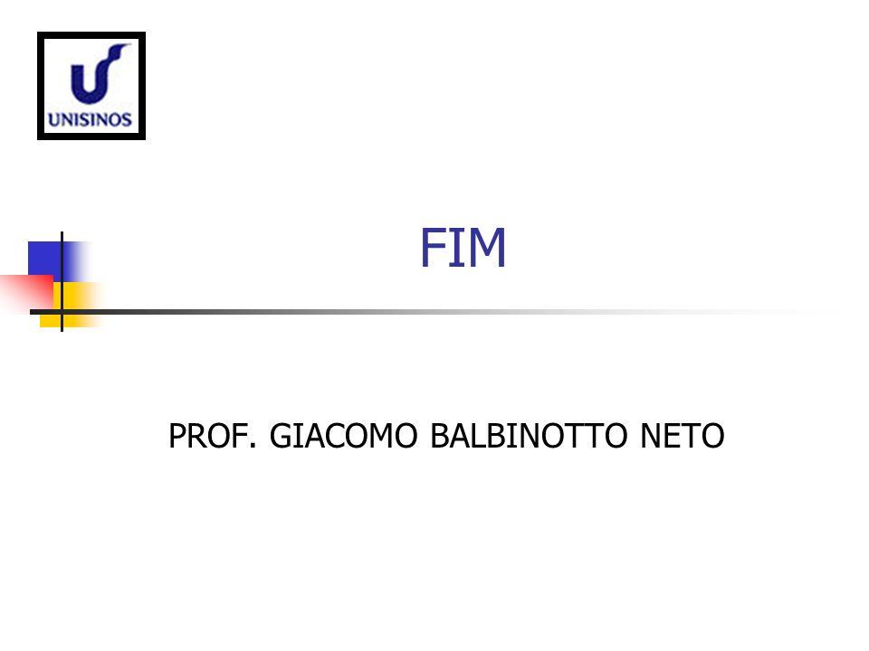 FIM PROF. GIACOMO BALBINOTTO NETO