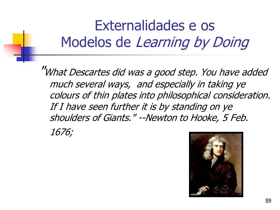 89 Externalidades e os Modelos de Learning by Doing