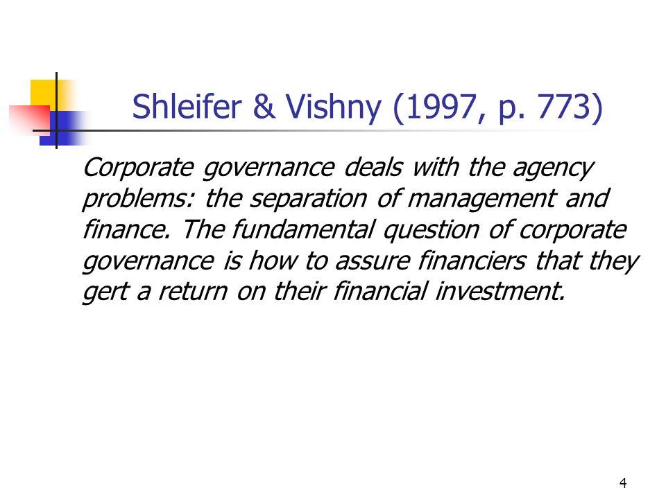 5 Governança Corporativa: Definições...
