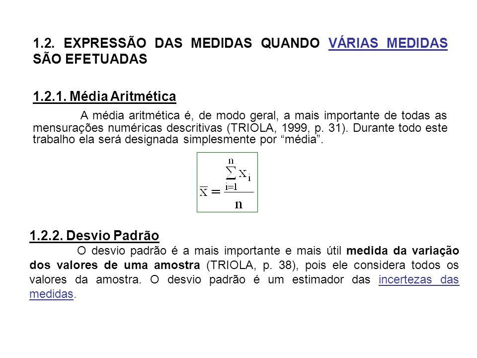 a- Desvio Padrão Amostral É utilizado quando se analisa uma amostra de uma população.