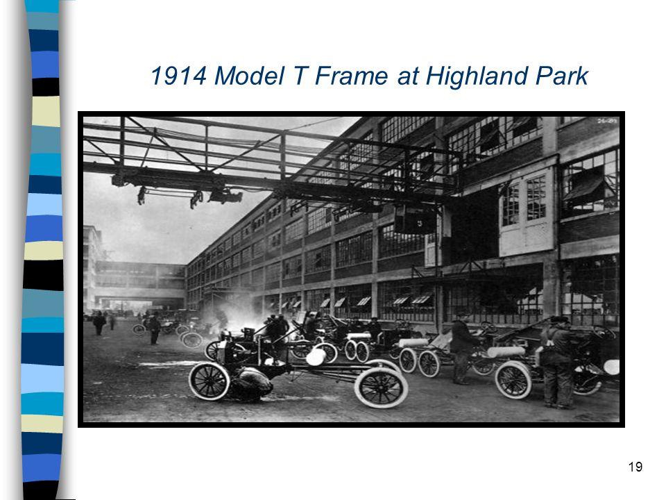 19 1914 Model T Frame at Highland Park