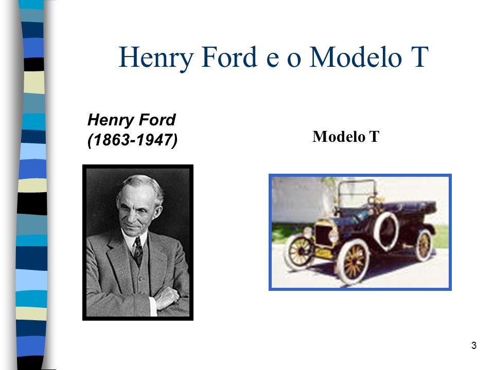 3 Henry Ford e o Modelo T Henry Ford (1863-1947) Modelo T