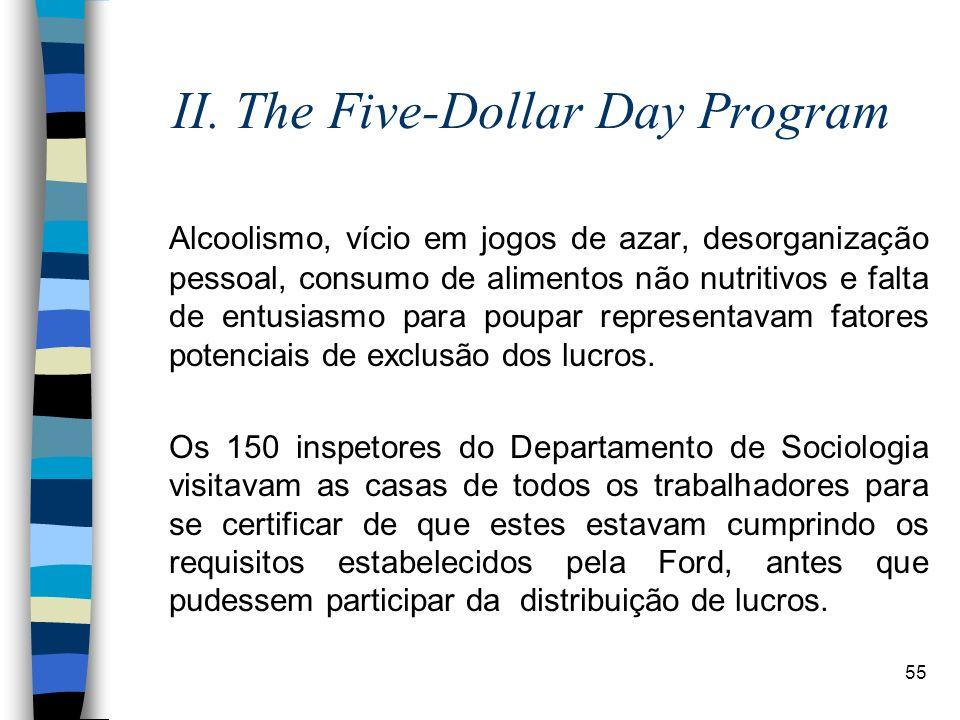 55 II. The Five-Dollar Day Program Alcoolismo, vício em jogos de azar, desorganização pessoal, consumo de alimentos não nutritivos e falta de entusias