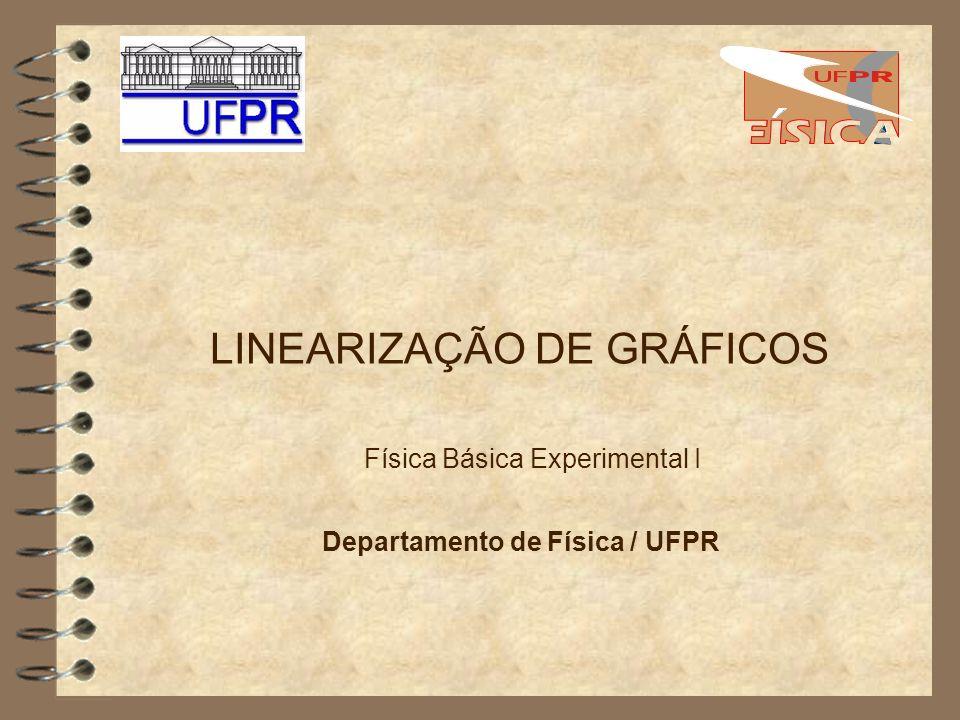 LINEARIZAÇÃO DE GRÁFICOS Física Básica Experimental I Departamento de Física / UFPR
