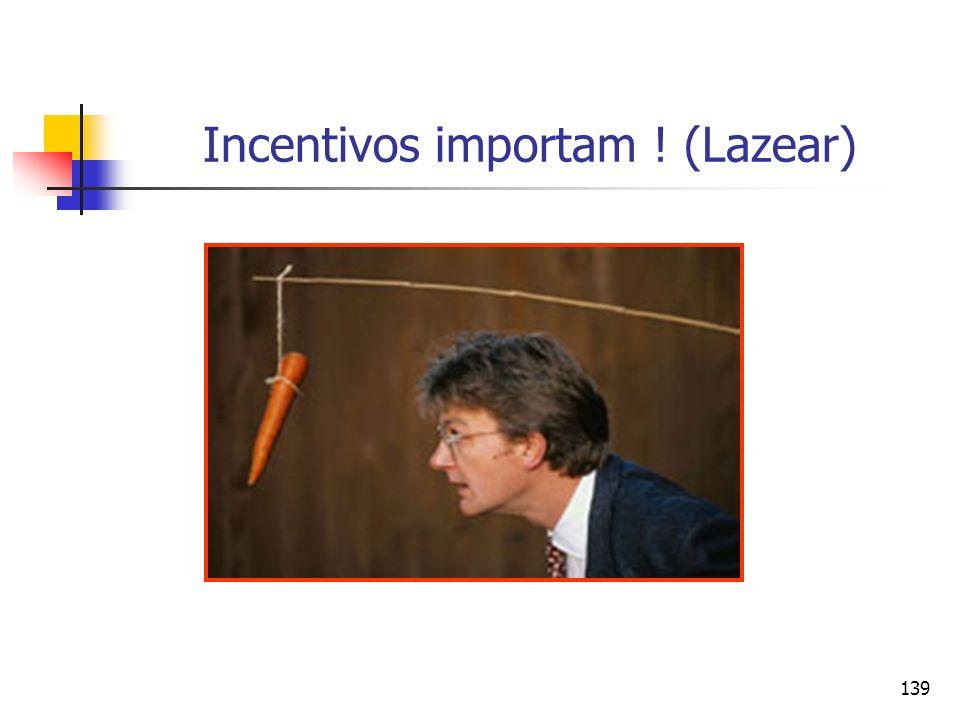 139 Incentivos importam ! (Lazear)