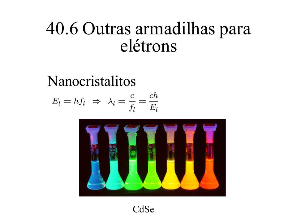 40.6 Outras armadilhas para elétrons Nanocristalitos CdSe