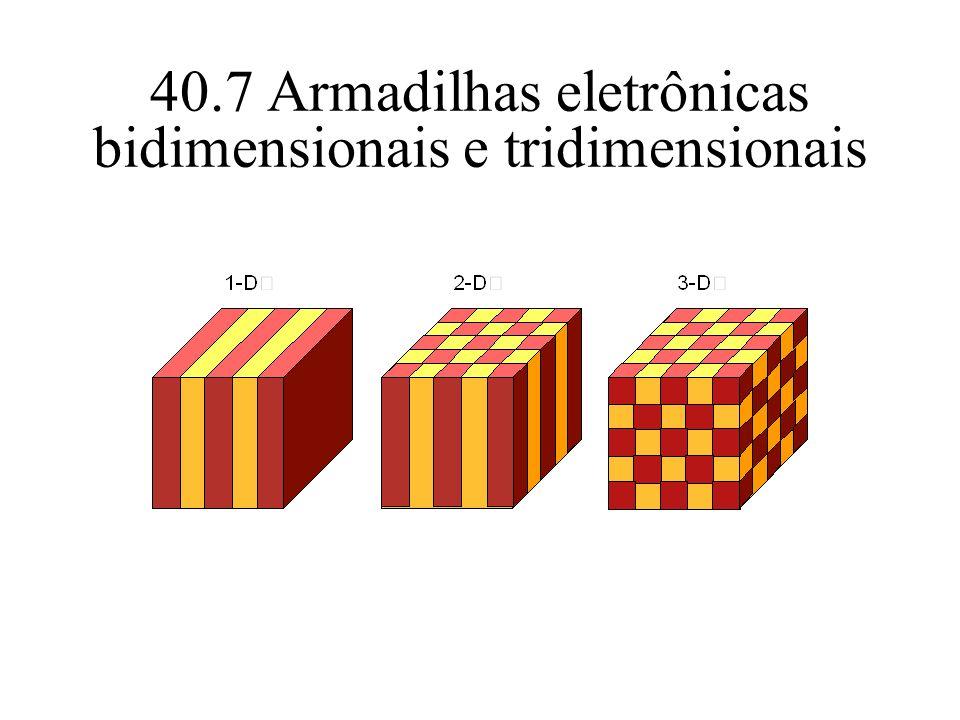 40.7 Armadilhas eletrônicas bidimensionais e tridimensionais