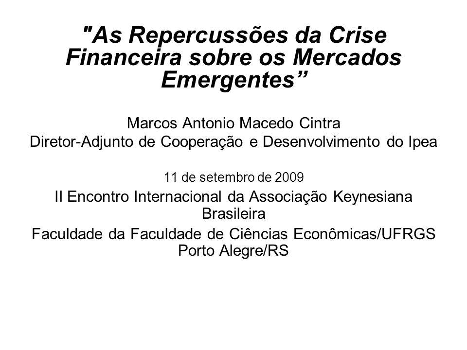 Balanço de pagamento dos EUA (2004-2009 – US$ bilhões) Fonte: Bureau of Economic Analysis.