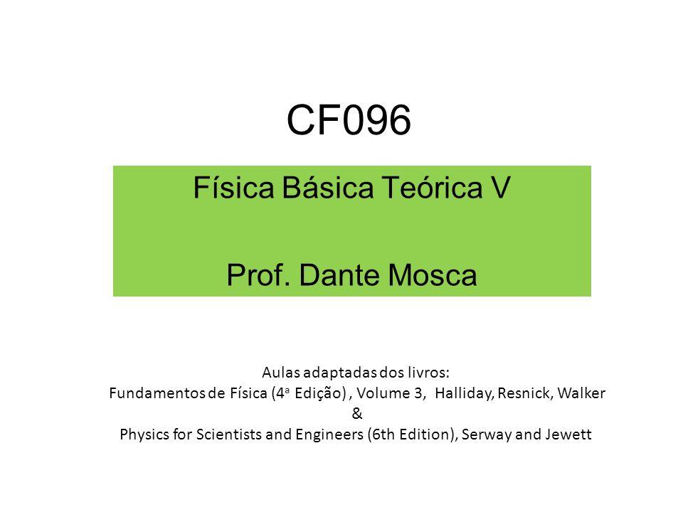 CF096 Física Básica Teórica V Prof.