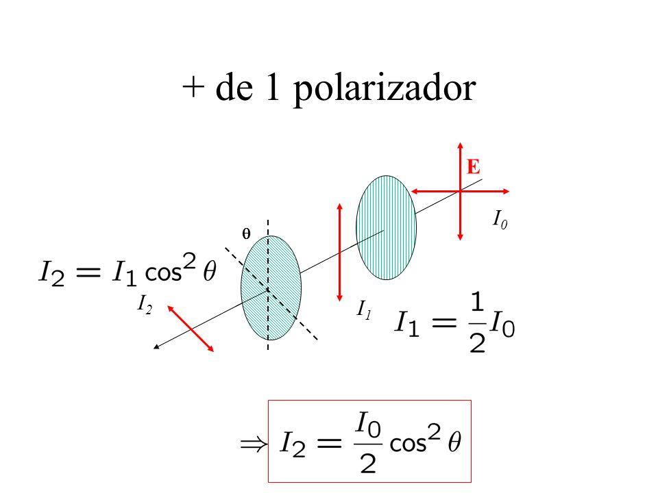 + de 1 polarizador E I0I0 I1I1 I2I2