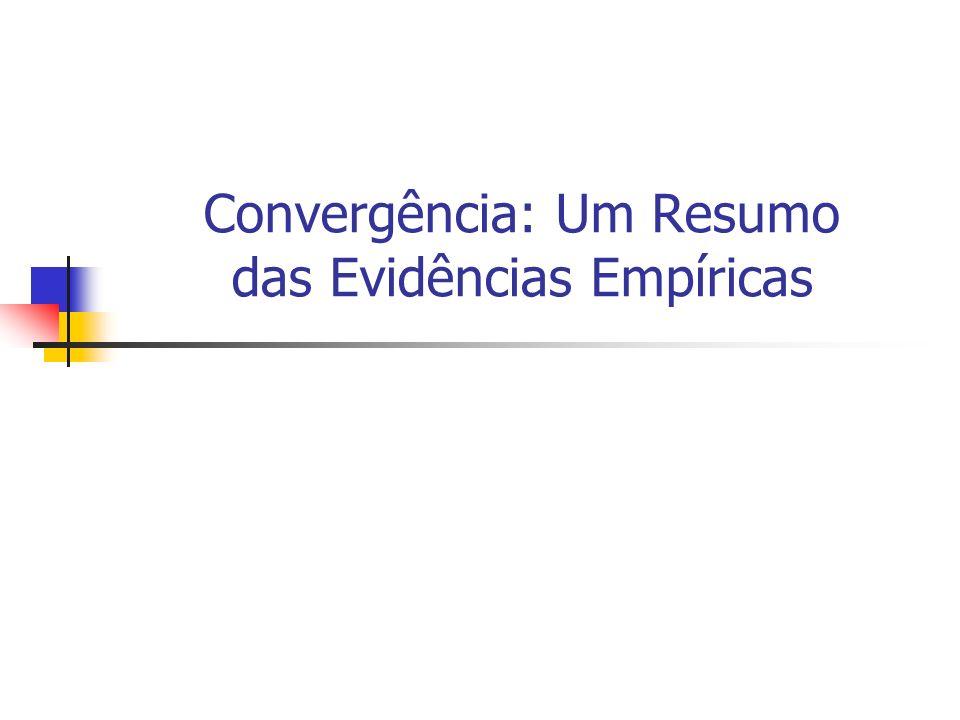 Convergência: Um Resumo das Evidências Empíricas