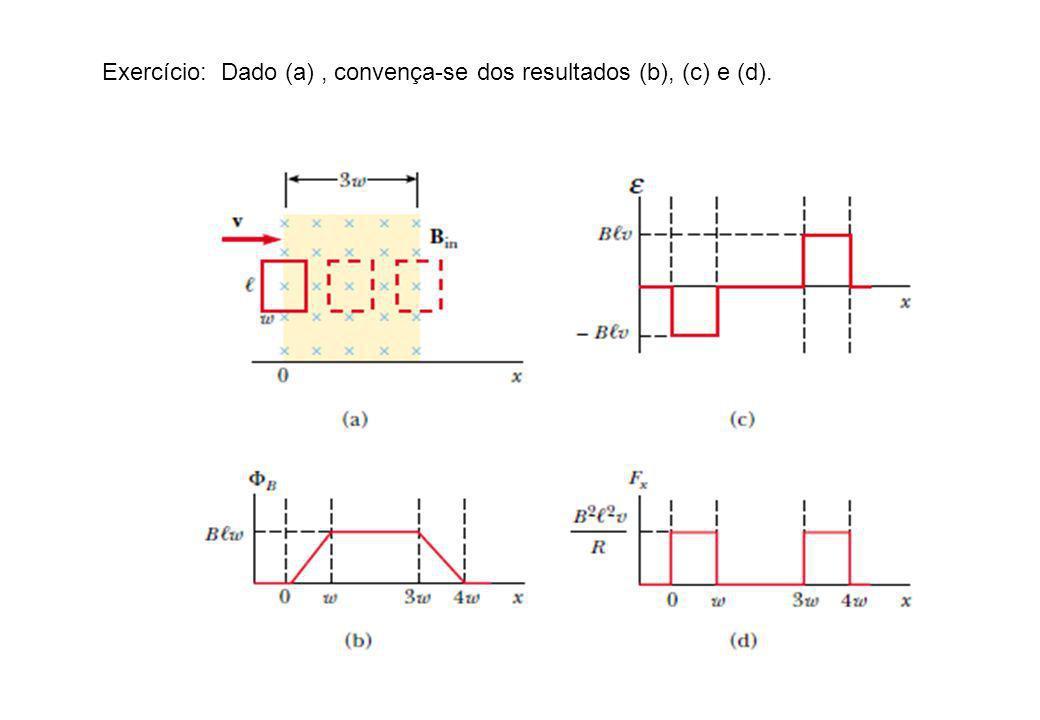 Exercício: Dado (a), convença-se dos resultados (b), (c) e (d).