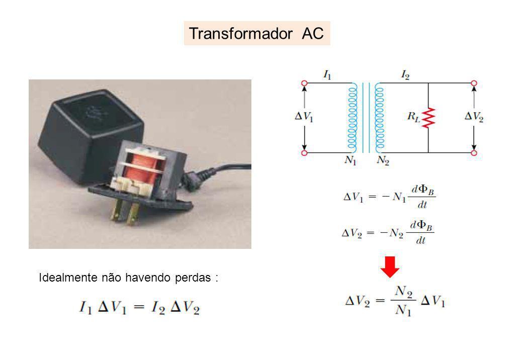 Transformador AC Idealmente não havendo perdas :