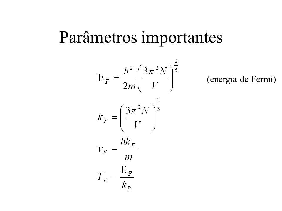 Parâmetros importantes (energia de Fermi)