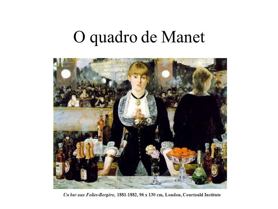 O quadro de Manet Un bar aux Folies-Bergère, 1881-1882, 96 x 130 cm, London, Courtauld Institute