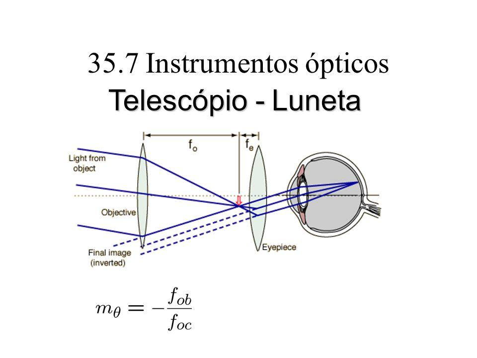 35.7 Instrumentos ópticos Telescópio - Luneta
