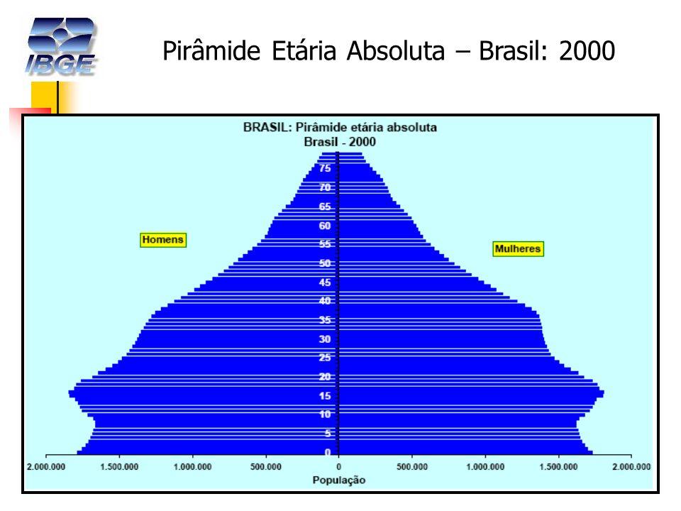 12 Pirâmide Etária Absoluta – Brasil: 2000
