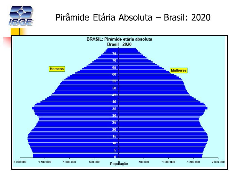 15 Pirâmide Etária Absoluta – Brasil: 2020