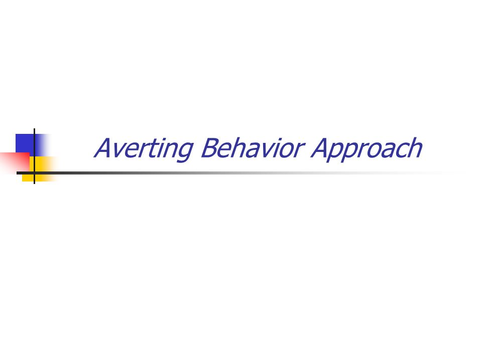 Averting Behavior Approach