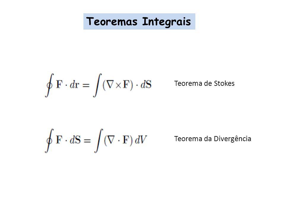 Teoremas Integrais Teorema de Stokes Teorema da Divergência