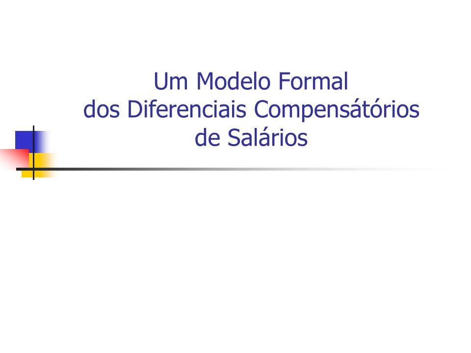 Um Modelo Formal dos Diferenciais Compensátórios de Salários
