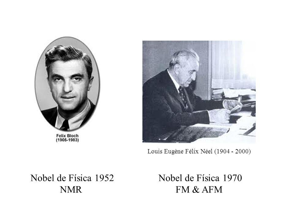 Louis Eugène Félix Néel (1904 - 2000) Nobel de Física 1970 FM & AFM Nobel de Física 1952 NMR