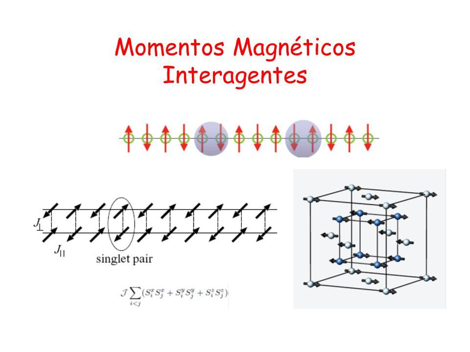 Momentos Magnéticos Interagentes