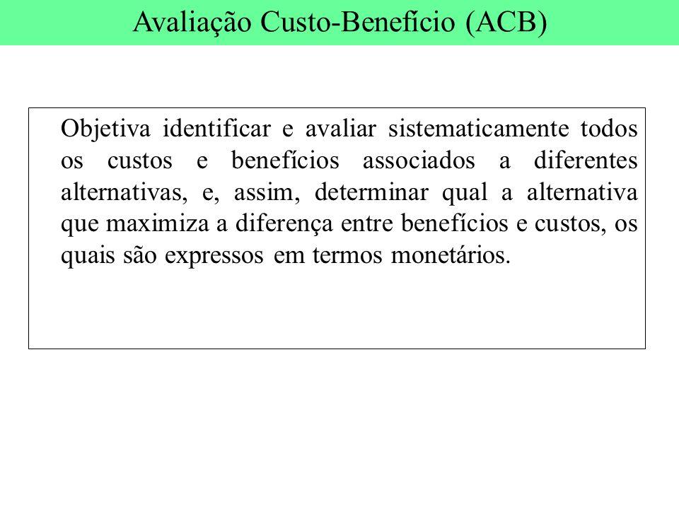 Objetiva identificar e avaliar sistematicamente todos os custos e benefícios associados a diferentes alternativas, e, assim, determinar qual a alterna
