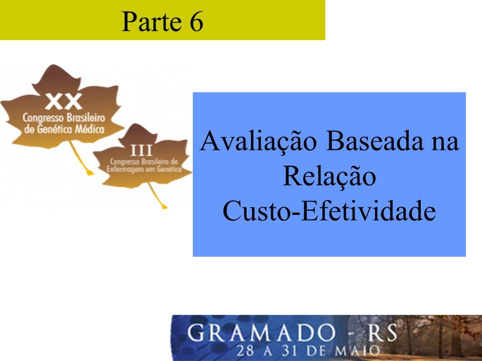 Parte 6 Avaliação Baseada na Relação Custo-Efetividade