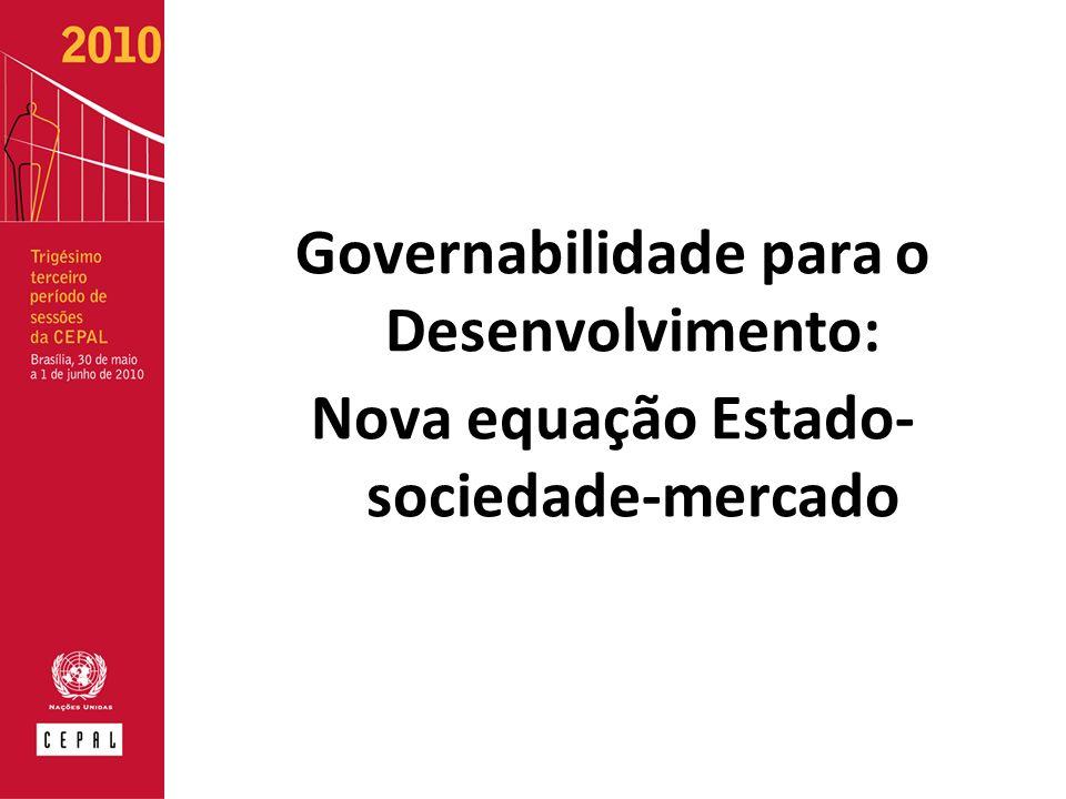 Governabilidade para o Desenvolvimento: Nova equação Estado- sociedade-mercado