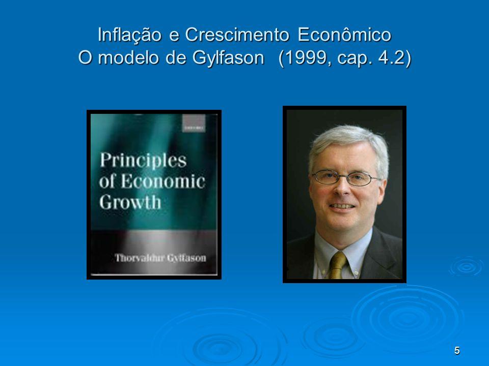5 Inflação e Crescimento Econômico O modelo de Gylfason (1999, cap. 4.2)
