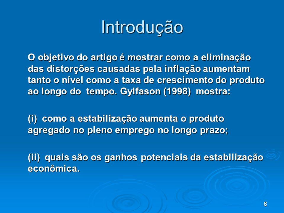 57 Inflação X Crescimento: o Caso do Brasil