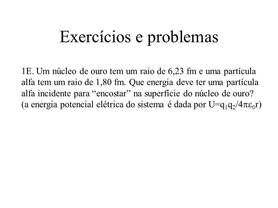 Exercícios e problemas 62E.