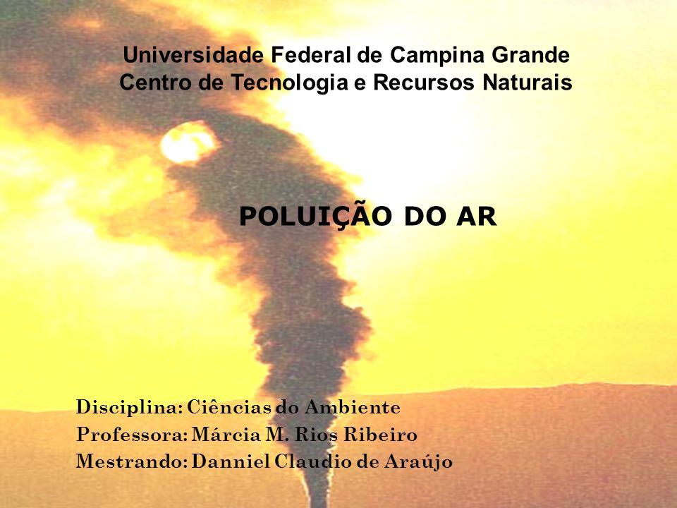Disciplina: Ciências do Ambiente Professora: Márcia M. Rios Ribeiro Mestrando: Danniel Claudio de Araújo Universidade Federal de Campina Grande Centro