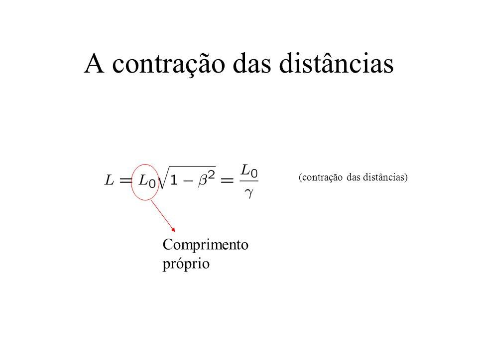 A contração das distâncias (contração das distâncias) Comprimento próprio