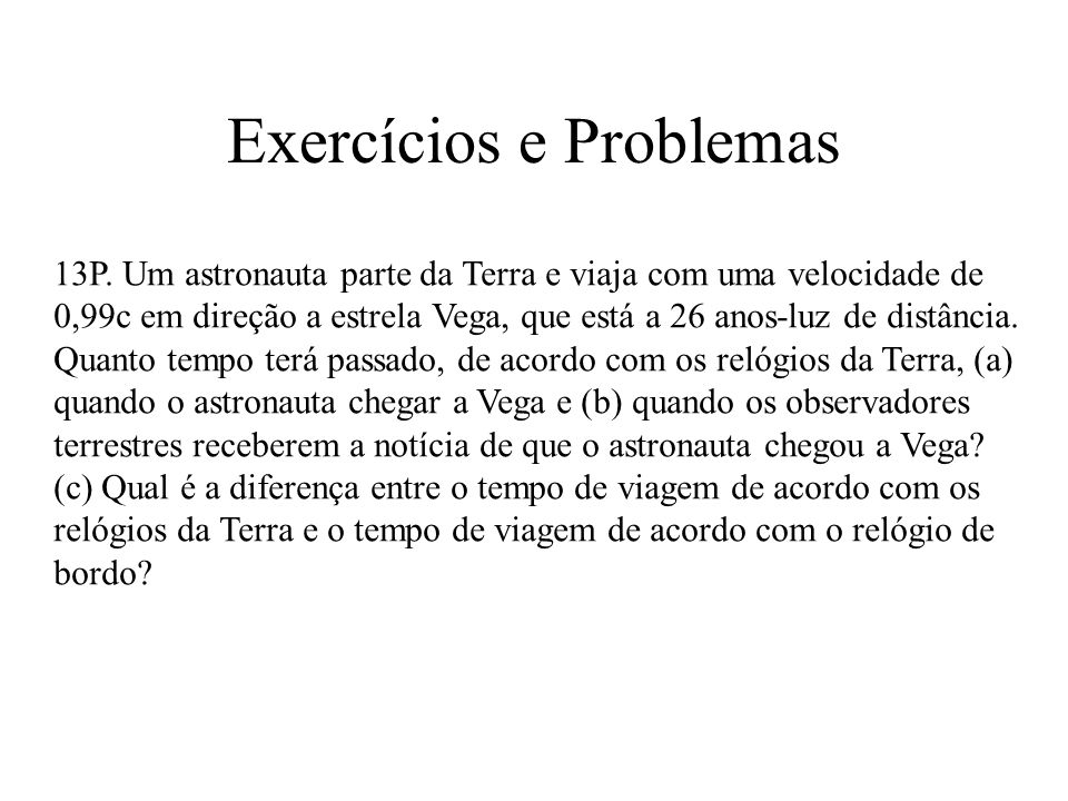Exercícios e Problemas 13P.
